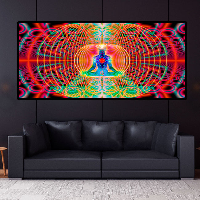 Noces HyperSpace Art Print | Canvas | Gaia | Meditation | Spiritual | Earth | Visionary | Psy | Chakra Art