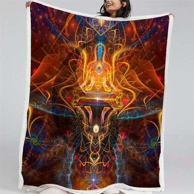 Spiritual Throw Blanket | Sherpa Fleece Blanket | Ombre et Lumiere