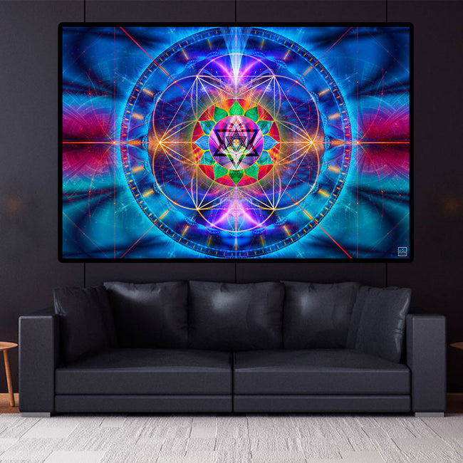 One Heart Art Print | Canvas| Spiritual| Meditation | Visionary | Healing | Consciousness| Love | Art