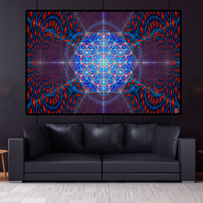One Light l Poster | Art Print | Meditation | Spiritual | Sacred Geometry| Conscious | Yoga| Healing | DNA| Art