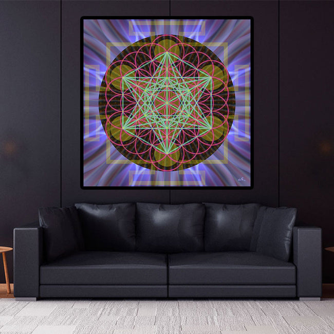 Flower of Life Art | Sacred Geometry Mandala Tapestry | Polarity