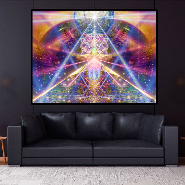 Sacred Geometry Wall Art | Meditation Tapestry | Prince of Peace
