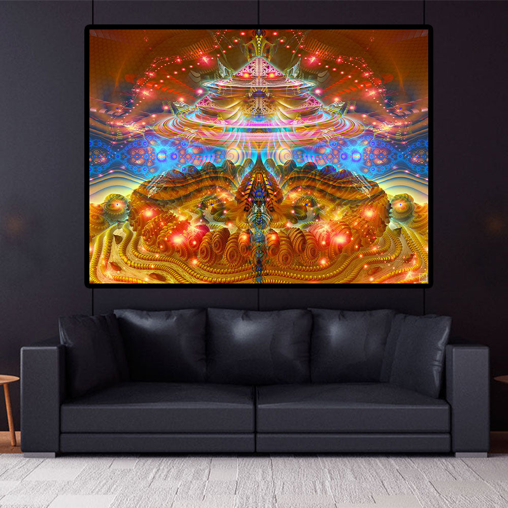 Psychedelic Wall Decor | Trippy Cosmic Tapestry | PsyCircus