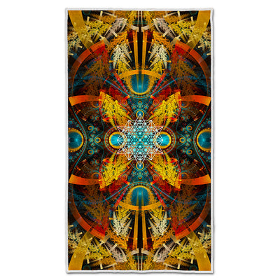 Sacred Geometry Yoga Towel