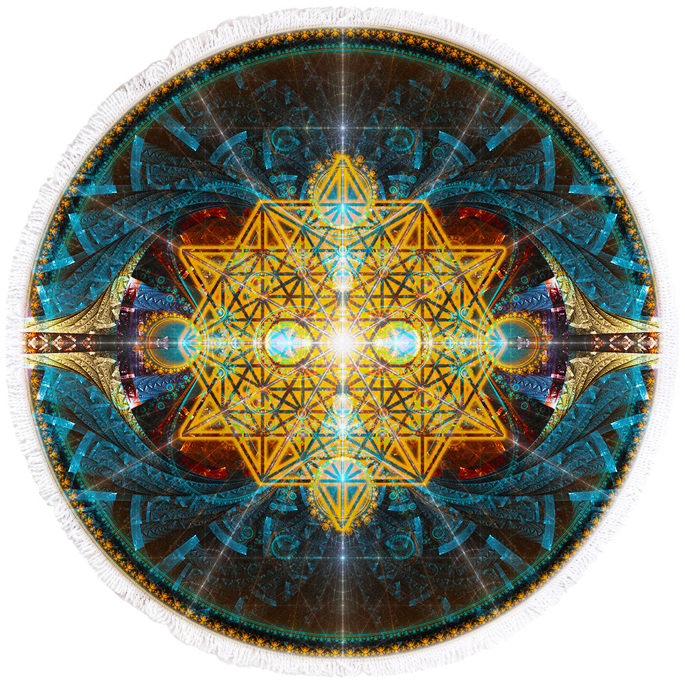 Sacred Geometry Beach Towel