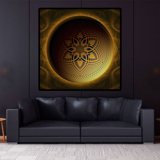 Sacred Geometry Wall Decor | Mandala Tapestry | Solar Moon