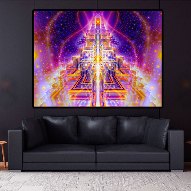 Spread The Light Cosmic Art Print | Canvas | Spiritual| Meditation | Visionary | Healing | Consciousness| Art