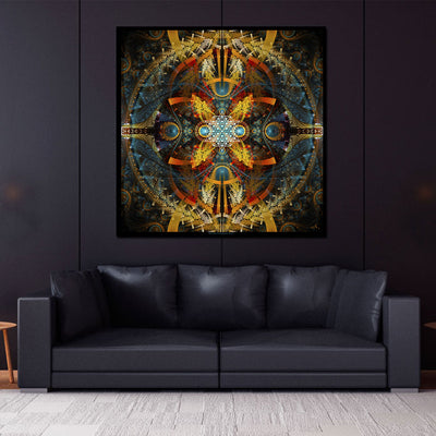 Merkaba Wall Hanging | Sacred Geometry Tapestry | Star Matrix
