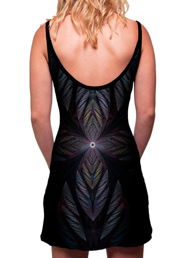 Raven | Dress | Tank | Mini | Festival | Rave | Outfit | Clothing | Aesthetic | Eco | Hippy | Hippie | Burning Man | Psychedelic