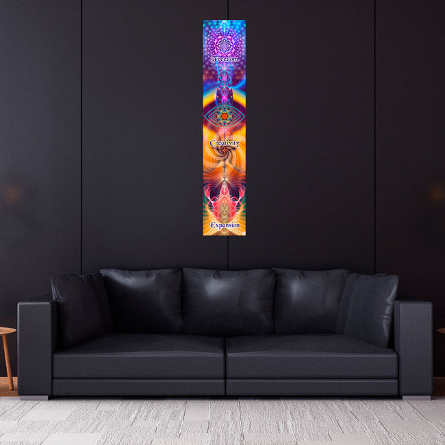 Inspirational Wall Art | Spiritual Tapestry | Expansion Creativity Freedom