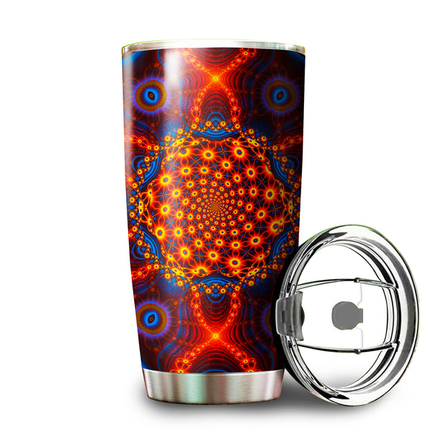 Psychedelic Tumbler | Stainless Steel Tumbler | Insulated Travel Mug | Cactivated DNA
