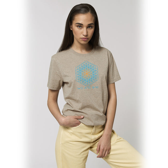 Vegan T-Shirt | Organic | Ethical | Unisex | Sacred Geometry | We Are One