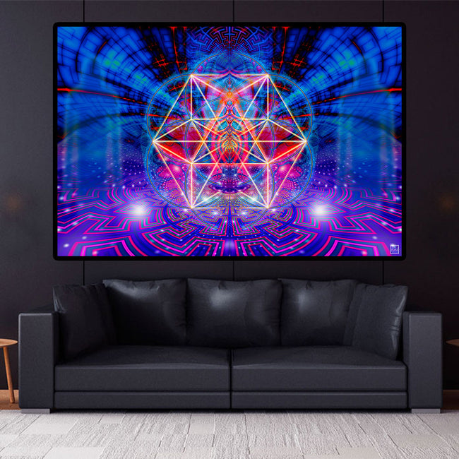 The Acturian Factor Art Print | Canvas| Spiritual| Meditation | Sacred Geometry | Cosmic| Consciousness| Art