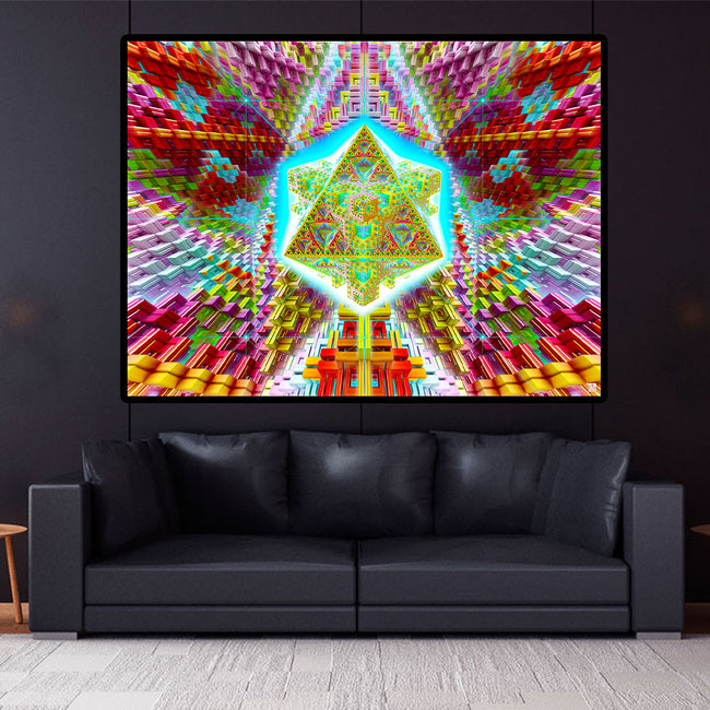 Travelling the Multiverse Cosmic Art Print | Canvas | Psychedelic| | | Earth | Visionary | Psy | Art