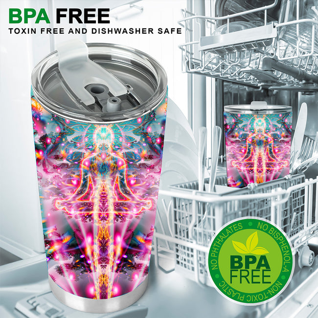 Psychedelic Tumbler | Stainless Steel Tumbler | Insulated Travel Mug | Dimitri The Frog