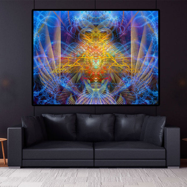 Visionary Tapestry | Energy Frequency Wall Hanging | Wings of Orion