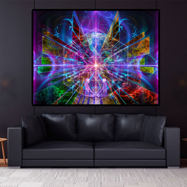 You Are All That Is Art Print | Canvas | Spiritual| Meditation | Cosmic| Visionary | Consciousness| Art