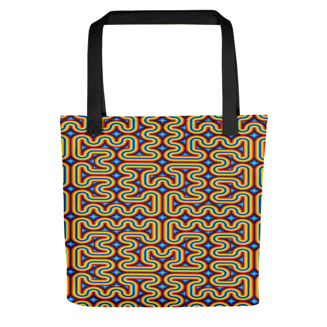 Beach Bag | Tote Bag | Yoga Bag | Reusable Shopping Bag | Rainbow Maze