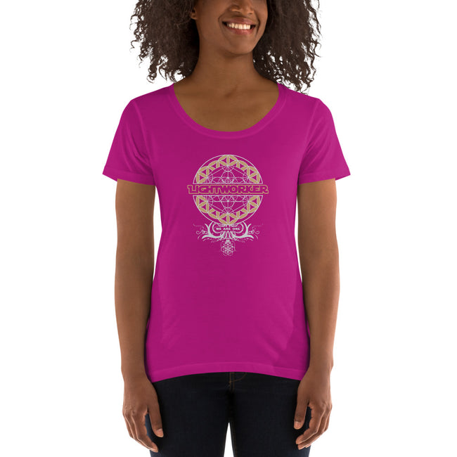 Ladies' Scoopneck T-Shirt - LIGHTWORKER