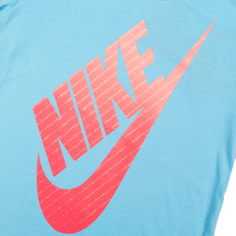 NIKE Gradient Futura SS Top W/ French Terry Short Set