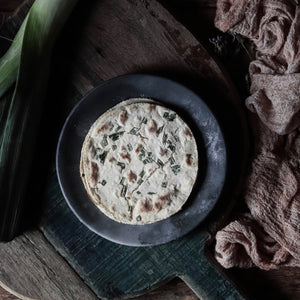 Oat and Leek Flatbread