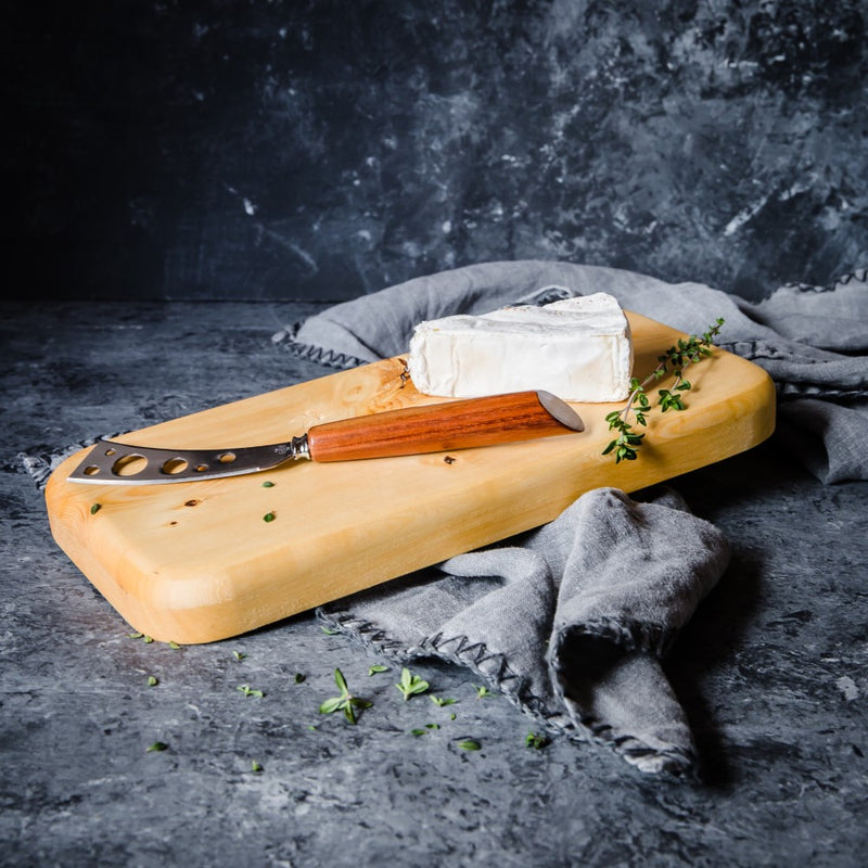 Huon Pine Cheese Board and Blackwood Knife - Tasmanian Gourmet Online