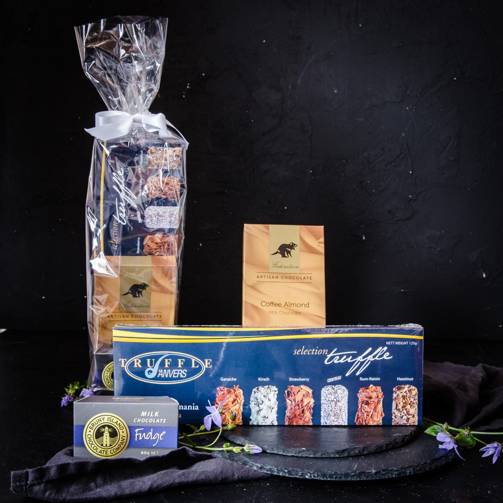 Anvers Truffles, Coffee Almond Chocolate and Bruny Island  Fudge - Tasmanian Gourmet Online