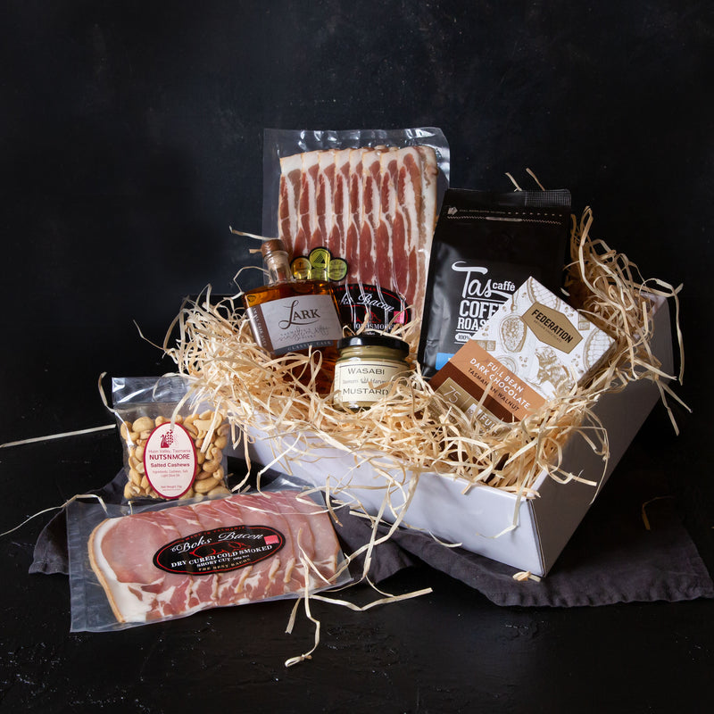 Valentines Day Tasmanian Whisky and Bacon Gift