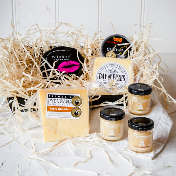 Tasmanian Cheese and Honey Selection Gourmet Gift Hamper - Tasmanian Gourmet Online