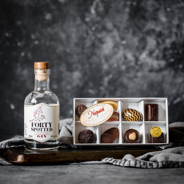 Gluten Free Handmade Chocolates and Forty Spotted Gin