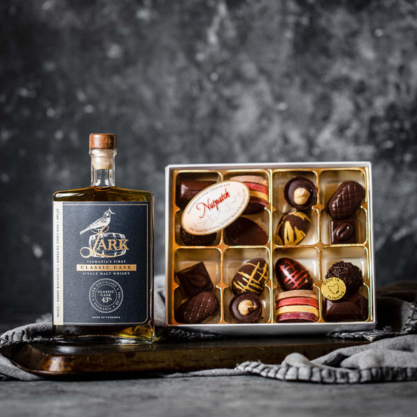 Gluten Free Easter Gift of Handmade Chocolates and Lark Whisky
