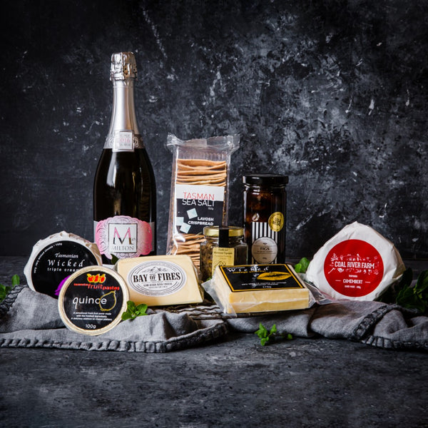 Cheese Platter with Milton Vineyard Sparkling Rosé