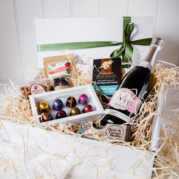Easter Gift of Vegan Chocolates and Milton Sparkling Rosé