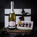 Mothers Day Gift with Sparkling Rosé and Handmade Chocolates