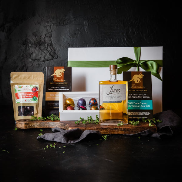 Lark Whisky with Vegan Chocolates