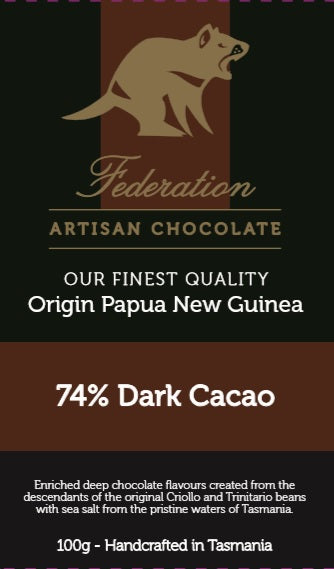 Single Origin Papua New Guinea 74% Dark Cacoa - Tasmanian Gourmet Online