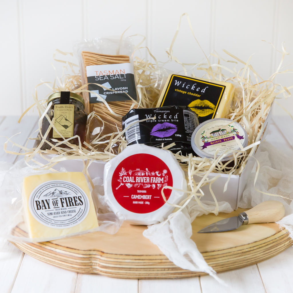 Cheese and Condiments Gourmet Gift Basket - Tasmanian Gourmet Online