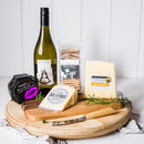 Tasmanian Cheese Gourmet Gift Basket with Cheese Board and wine - Tasmanian Gourmet Online