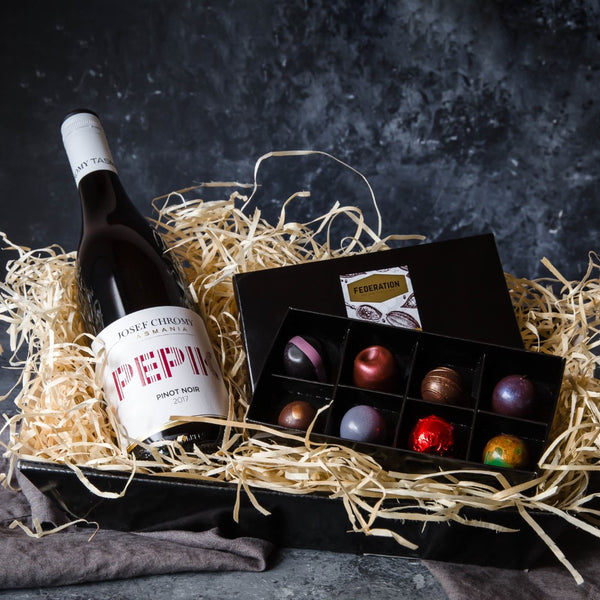 Christmas Gift of Handmade Vegan Chocolates and Vegan Wine