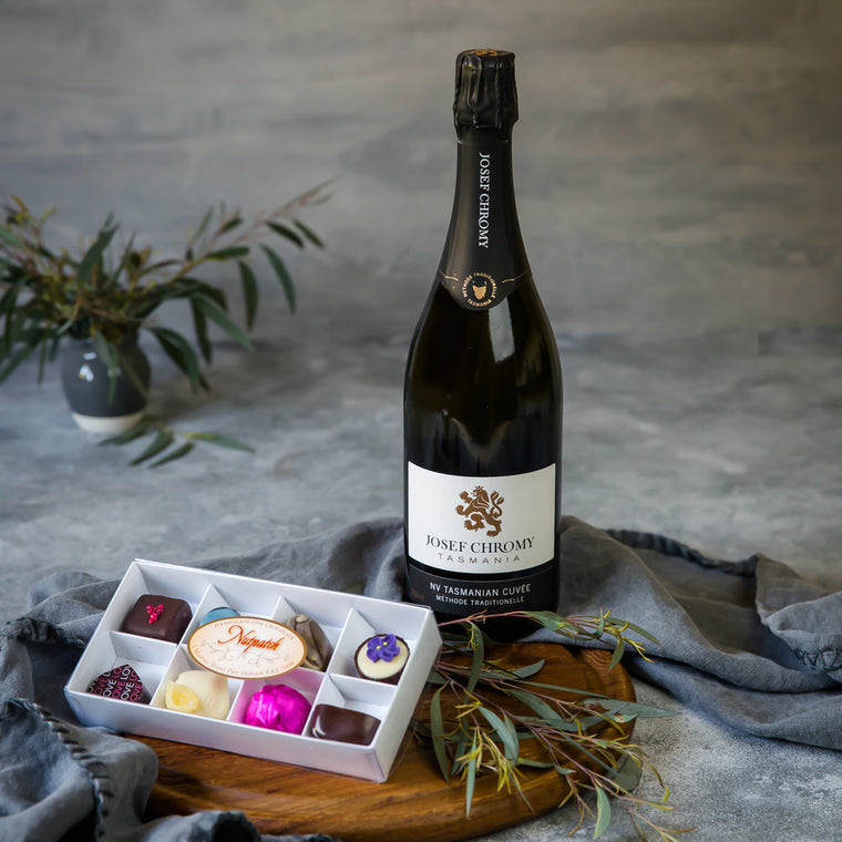 Tasmanian Mothers Day Gift Hamper with Handmade Chocolates and Sparkling - Tasmanian Gourmet Online