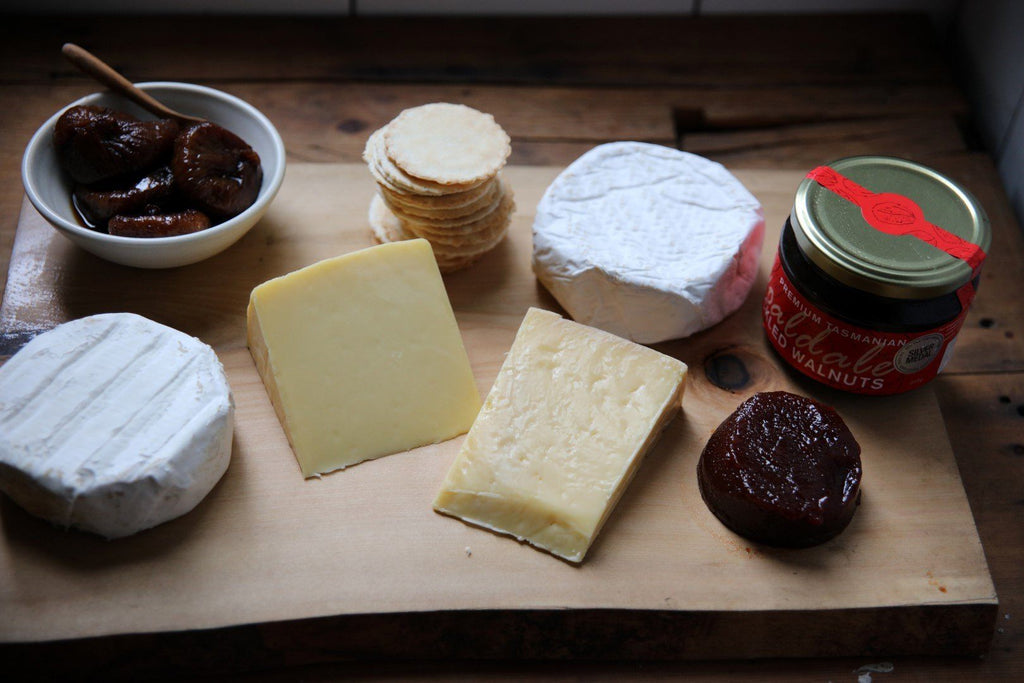 Tasmanian Cheese Selection and Condiments