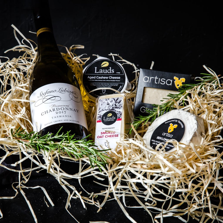 Vegan Cheese Gift with Vegan Wine