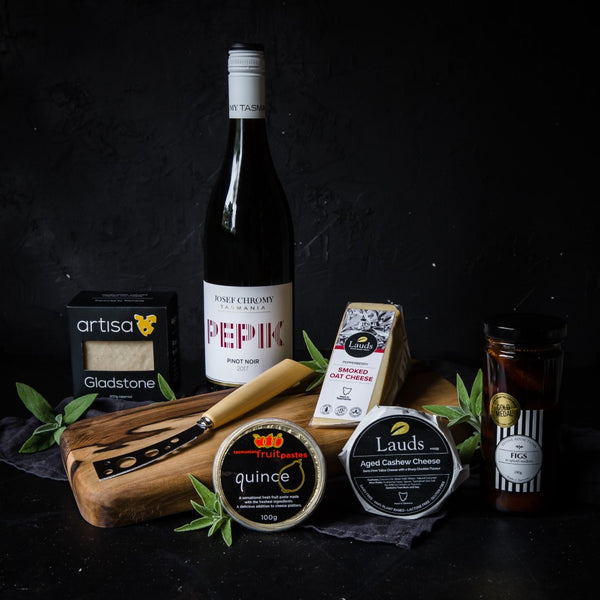 Gourmet Tasmanian Vegan Cheese Gift with Cheese Board