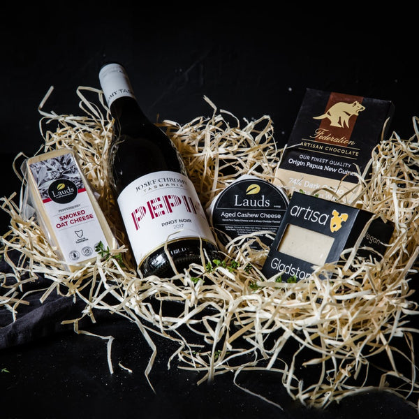 Vegan Cheese and Vegan Wine Gift