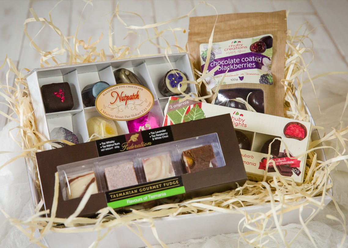 Gourmet easter gift hamper with a tasmanian sparkling wine easter gift chocolate indulgence negle Choice Image
