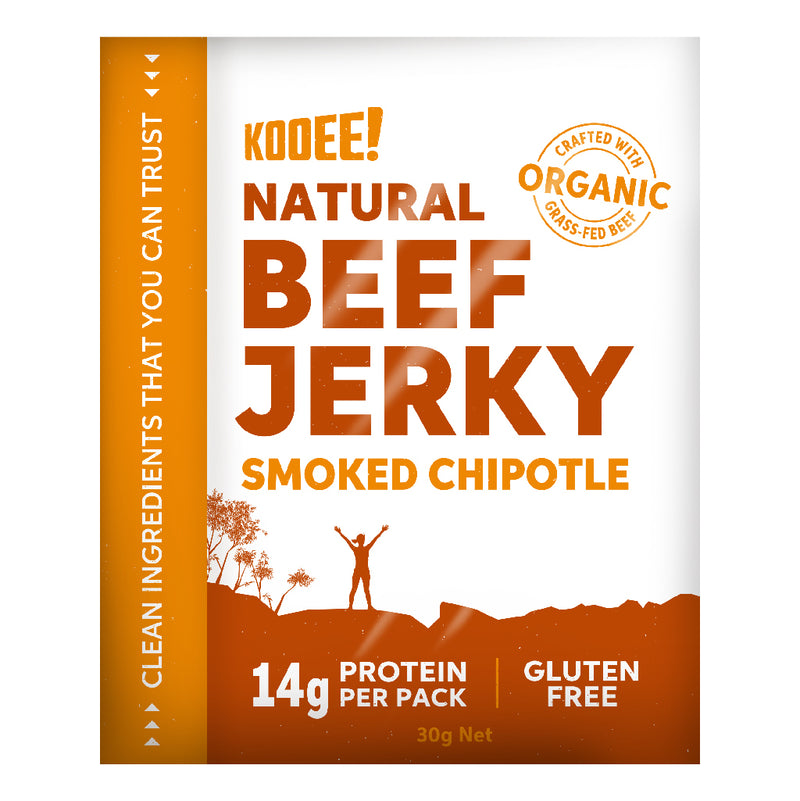 Kooee Grass Fed Beef Jerky - Smoked Chipotle