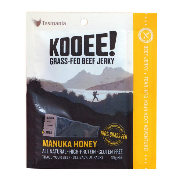Kooee Grass Fed Beef Jerky - Manuka Honey