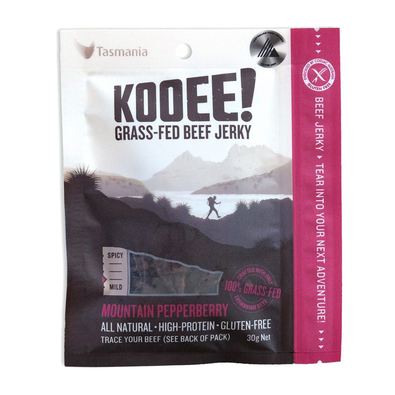 Kooee Grass Fed Beef Jerky - Native Pepperberry