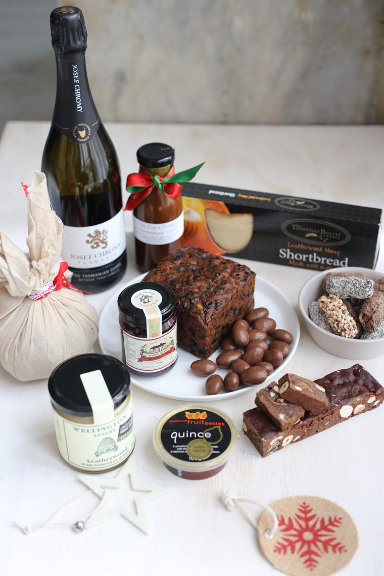 Large Christmas Hamper and Sparkling Wine - Tasmanian Gourmet Online
