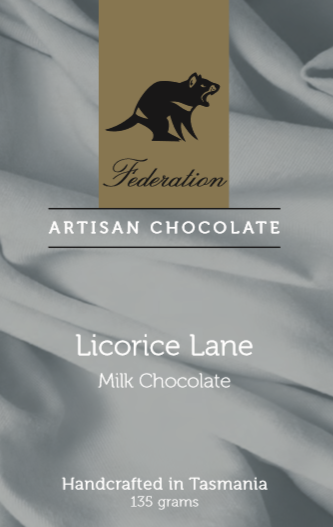 Federation Chocolate Licorice Lane Milk Chocolate - Tasmanian Gourmet Online